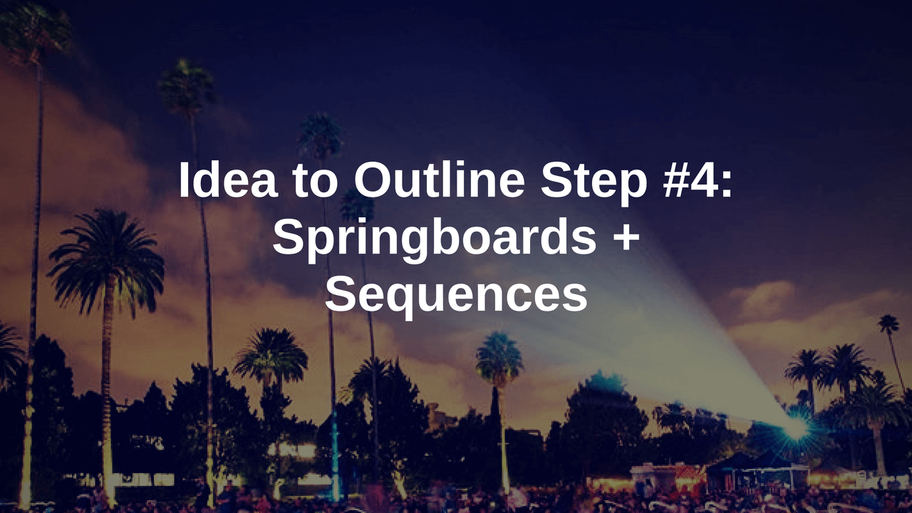 screenplay outline blog sequences