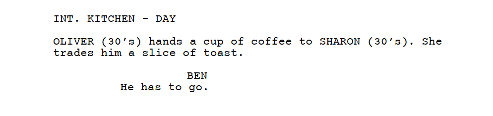 screenplay excerpt